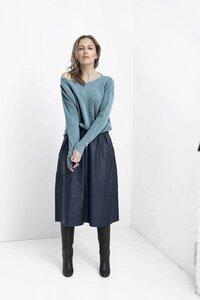 Shapes Sweater - Seagreen - Oversized-Passform - Boot-Ausschnitt und super nachhaltig - Loop.a life