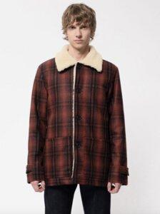 Mangan Lumber Jacket Brick Red - Nudie Jeans