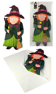 3D-Grusskarte 'Hexe' - Gollnow Paper Creations
