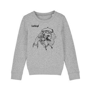 Bedruckter Kinder Sweater aus Bio-Baumwolle FOTOGRAF - karlskopf