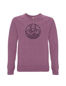 """Fahrrad Sweatshirt """"Unter den Wolken"""" in Violett / Lila & Schwarz - Picopoc"""