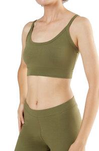 2 er Pack Damen Bustier Bio-Baumwolle Yoga Sport BH Oberteil Top - Albero