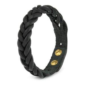 Simaru® Herren-Armband aus Premium-Leder geflochten & größenverstellbar - Simaru