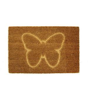 Fußmatte Tiermotiv Schmetterling aus Kokosfaser - Mitienda Shop