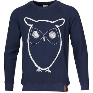 Sweat Shirt With Owl - KnowledgeCotton Apparel