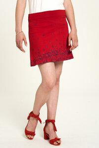 Jersey Rock aus Bio-Baumwolle mit Aufdruck in Rot und Blau - TRANQUILLO