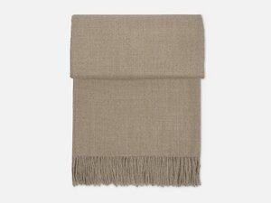 Decke aus Alpakawolle mit Fransen - FOLKDAYS