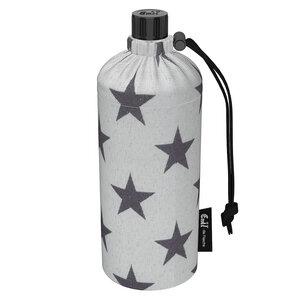 Trink-Set 0,6 l mit Glasflasche, Isolierhülle und Bio-Baumwollbeutel - Emil die Flasche