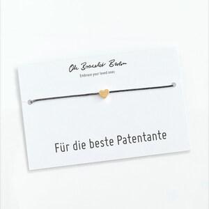 Armband Patentante mit Gravur inkl. Patenbrief - Oh Bracelet Berlin