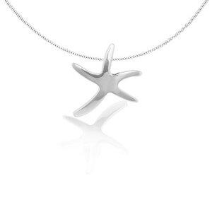 Kette Silber Seestern minimalistisch Ozean Meer handmade Fair-Trade - pakilia