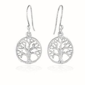 Ohrringe Silber Lebensbaum Baum des Lebens handmade dezent Fair-Trade - pakilia