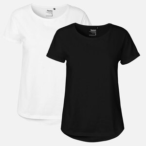 Doppelpack Neutral® Ladies Roll Up Sleeve T-Shirt - Neutral