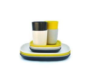 BIOBU Gusto Lunch-Set 1 (je 4 x Speiseteller, kl. Teller, mittelgr. Becher) - EKOBO