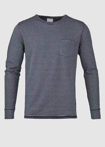 Double Layer Striped Sweat Total Eclipse - KnowledgeCotton Apparel