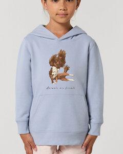 Flauschiger Kinderhoodie /Animals are friends - The flying dog - Kultgut