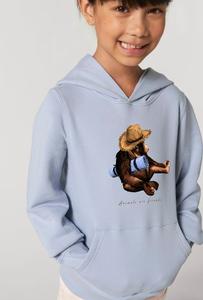 Flauschiger Kinderhoodie /Animals are friends - Travel Monkey - Kultgut