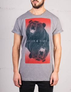 Queen of Bears Herren T-Shirt grau-meliert - NEONOW