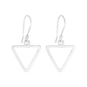 Ohrringe Silber feines Dreieck minimalistisch handmade Fair-Trade - pakilia