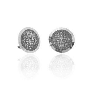 Ohrringe Silber Aztekenkalender Muster handmade filigran Fair-Trade - pakilia