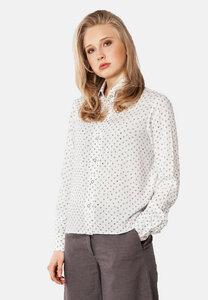 Hemdbluse mit Print Herzen - SinWeaver alternative fashion