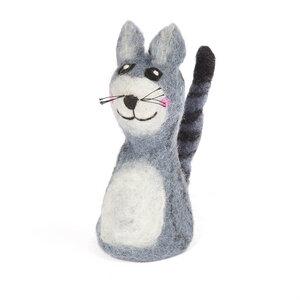 graue Katze als Filz Eierwärmer - short'n'pietz