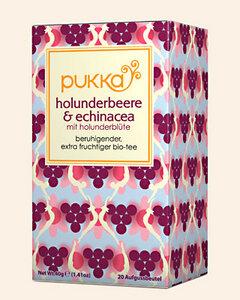 Holunderbeere & Echinacea Pukka Tee Bio, 20 Teebeutel - Pukka