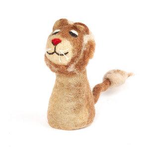 Löwe als Filz Eierwärmer - short'n'pietz