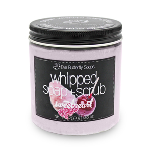 "Whipped Soap+Scrub ""Sweetheart"" - Eve Butterfly Soaps"