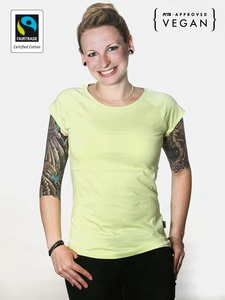 Fairtrademerch Ladies' Organic Raglan Tee (melon) - Fairtrademerch
