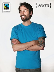 Fairtrademerch Men's Organic Tee (bright blue) - Fairtrademerch