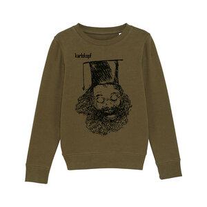 Bedruckter Kinder Sweater aus Bio-Baumwolle UNIABSCHLUSS - karlskopf