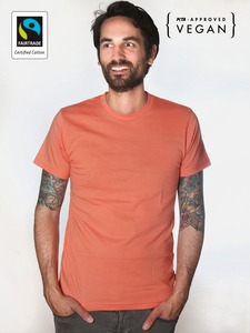 Fairtrademerch Men's Organic Tee (coral) - Fairtrademerch