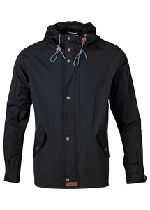 Waxed Canvas Light Jacket Total Eclipse - KnowledgeCotton Apparel