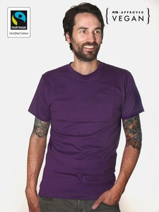 Fairtrademerch Men's Organic Tee (purple) - Fairtrademerch
