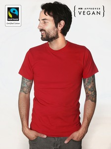 Fairtrademerch Men's Organic Tee (red) - Fairtrademerch