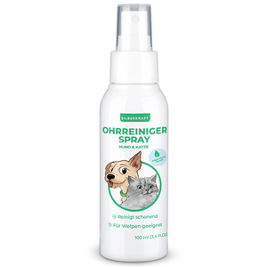 Ohrreiniger 100 ml für Hunde und Katzen - auch für Welpen geeignet - Silberkraft