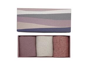 3 Paar Wollsocken Box dust pink - ecru - pink - Opi & Max