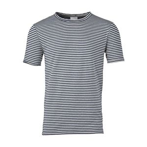Double Layer Striped T-Shirt Estate Blue - KnowledgeCotton Apparel