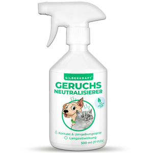 Geruchsneutralisierer 500 ml - gegen unangenehme Tiergerüche - Silberkraft