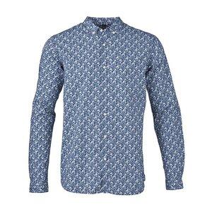 Flower Printed Poplin Shirt Estate Blue - KnowledgeCotton Apparel