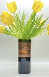 Vase aus der 0,7l Weinflasche mit Etikett - MaBe