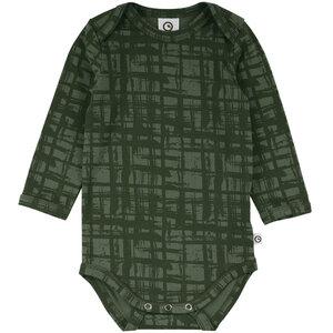 Langarmbody - Check Alloverprint - Müsli by Green Cotton