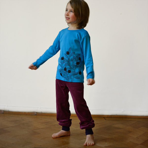 Cmig - Blaubeer Langarmshirt Nordisch Blau