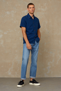Relaxed Fit Jeans aus Bio Baumwolle - Kong - Vintage Light Blue - Kings Of Indigo