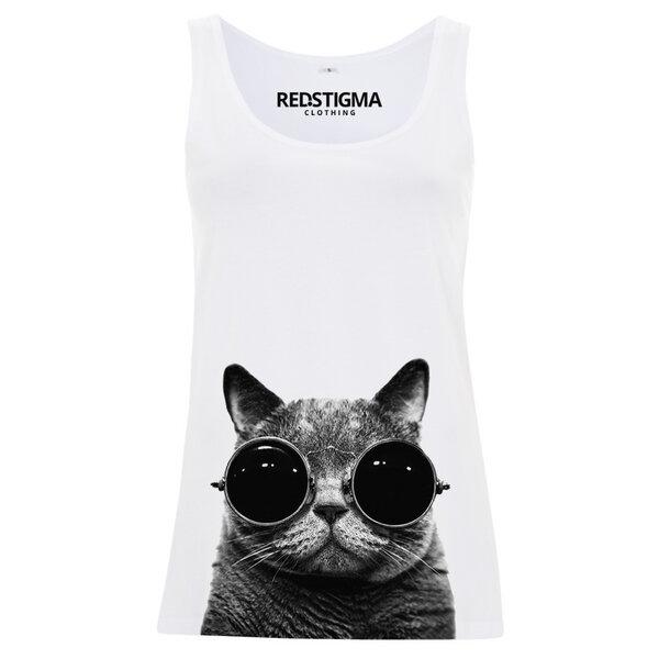 redstigma clothing katze mit sonnenbrille tank top avocadostore. Black Bedroom Furniture Sets. Home Design Ideas