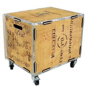 Rollbox Rollkiste Rollcontainer mit Deckel aus Holz 40x45x33 cm ver. Motive - Werkhaus GmbH