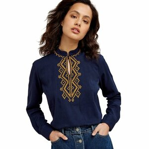 "Bluse ""Rhona Embroidered Blouse"" - People Tree"
