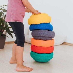 Stapelstein Rainbow Basic, 6er Set. Balanciersteine, outdoor und indoor. - Stapelstein