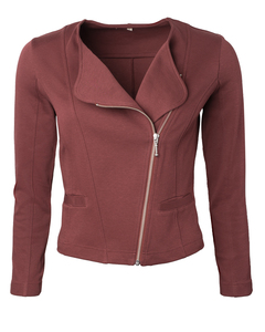 Kurze Jacke aus Bio-Baumwolle in Punto-Qualität 'Punto Biker' - Alma & Lovis