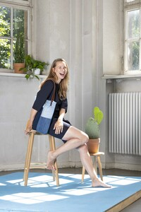 Shopper aus used Denim im Patchwork Look Leder - Bridge&Tunnel